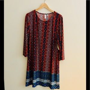 NWT Tacera Printed Dress